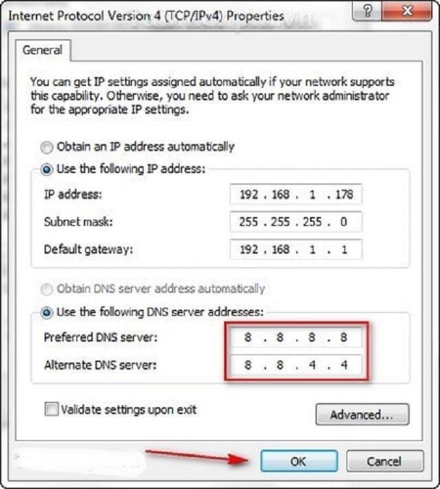 Đổi DNS để dễ dàng truy cập Loto188