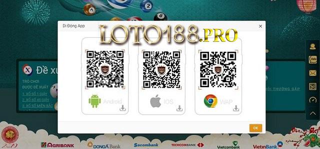 Tải ứng dụng Loto188 Mobile về điện thoại