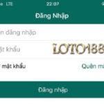 Biểu mẫu đăng nhập Loto188 trên ứng dụng