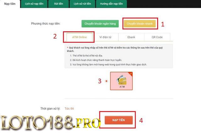 Người chơi chọn phương thức nạp tiền phù hợp