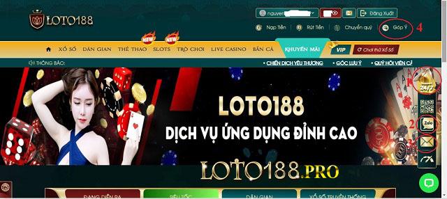 Sử dụng ứng dụng Loto188